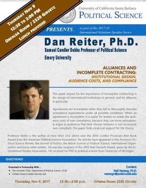 Flyer for Schultz Talk on November 9 from 12:30 to 2:00 in the Orfalea Center Conference Room (2320 Girvetz)
